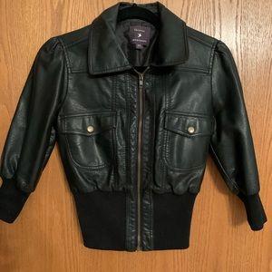 Forever 21 Black Mid Leather Jacket